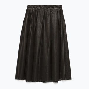 NEW Zara perforated faux leather skirt